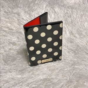 Kate Spade NY Black White Polka Dot Passport Cover